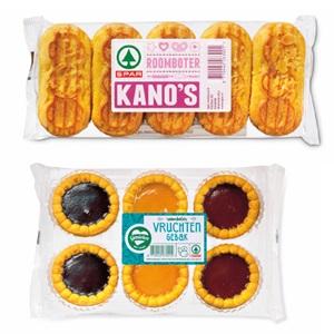 SPAR roomboter kano's, vruchtengebak of donut cookies
