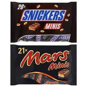 Mars, Twix, Bounty, Milky Way of Snickers