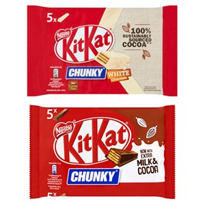Kit Kat chunky melk of white