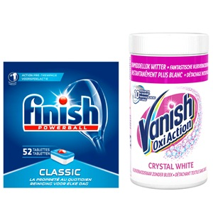 Finish vaatwastabletten of Vanish poeder
