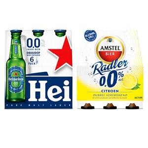 Heineken pils 0.0% of Amstel Radler 0.0%