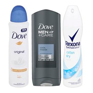 Rexona of Dove deodorant of douche