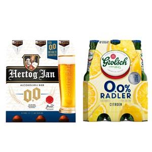 Hertog Jan, Grolsch, Bavaria of Warsteiner alcoholvrij bier