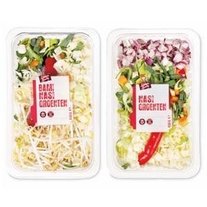nasi, bami/nasi of macaroni/spaghetti groenten