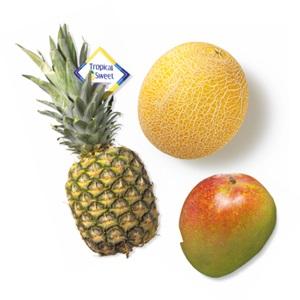ananas, mango of Galia meloen