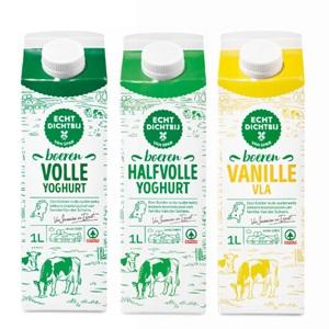 SPAR echt dichtbij yoghurt of vanille vla