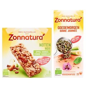 Zonnatura thee, crunchies, ontbijtgranen of coated
