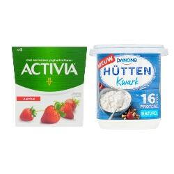 Activia yoghurt of Hüttenkwark