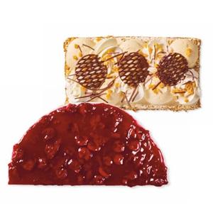 SPAR MonChou vlaai half of karamel-fudge schnitte