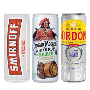 Smirnoff, Gordon's of Captain Morgan