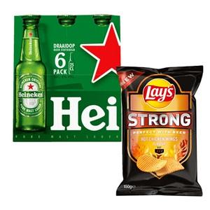 Heineken pils en Lay's Strong