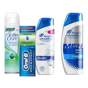 Head & Shoulders, Oral-B tandpasta of Gillette scheergel