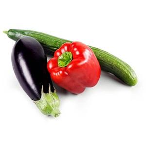 paprika, komkommer of aubergine