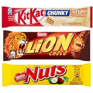 Bros, Lion, Nuts of KitKat
