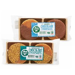 SPAR en g'woon melkchocolade- of melkchocolade karamel-zeezout stroopwafels