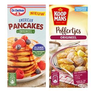 Dr. Oetker American pancakes origineel of Koopmans mix voor poffertjes