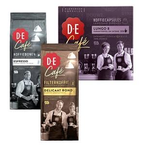 Douwe Egberts Café filter, bonen of capsules