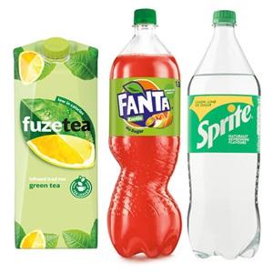 Fanta, Sprite of Fuze Tea