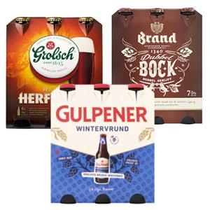 Grolsch, Brand, Gulpener of Leffe herfstbok of winterbier