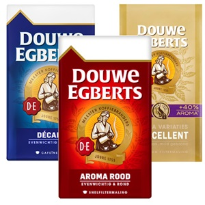 Douwe Egberts snelfilter, grove maling of intens
