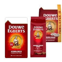 Douwe Egberts Aroma Rood filter, bonen, pads of oploskoffie