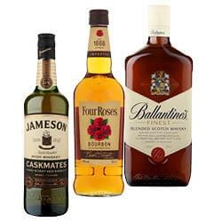 Four Roses bourbon, Jameson caskmates of Irish whisky