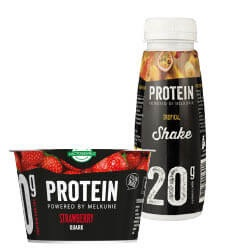 Melkunie protein kwark, yoghurt, shake of pudding