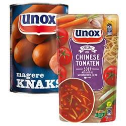Unox soep in zak of knaks