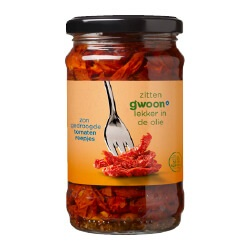 g'woon zongedroogde tomatenreepjes