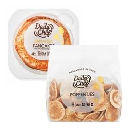 Daily Chef poffertjes of pannenkoeken naturel, banaan of volkoren