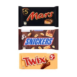Mars, Twix of Snickers