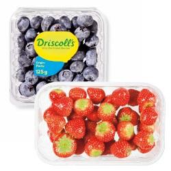 aardbeien of blauwe bessen