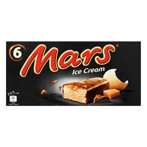 Mars, Snickers, Twix of Bounty ice cream