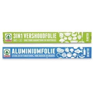 SPAR aluminiumfolie of 3-in-1 huishoudfolie