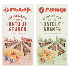 Bolletjes ontbijtgranen of noten & granen repen