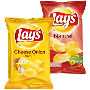 Lay's cheese onion, paprika of naturel
