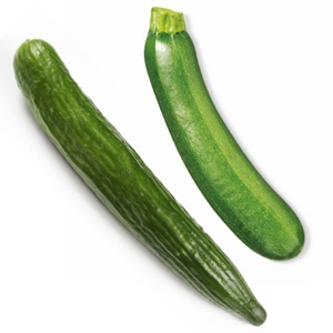 Komkommer of courgette