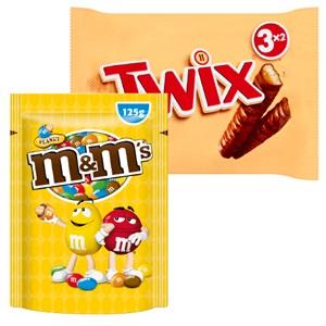 M&M's, Mars, Snickers of Twix