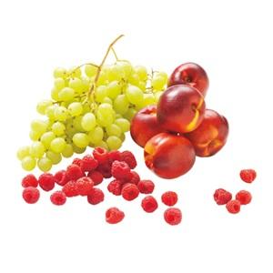 frambozen, witte druiven of nectarines