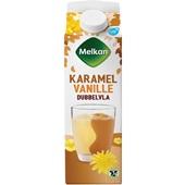 Melkan dubbelvla vanille-karamel voorkant