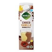 Melkan dubbelvla chocolade vanille voorkant