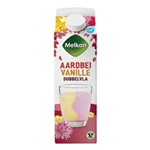 Melkan dubbelvla aardbei vanille voorkant