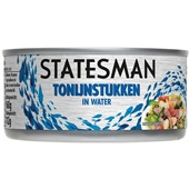 Statesman Tonijnstukken In Water voorkant
