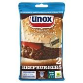 Unox Vleesconserven Beefburgers voorkant