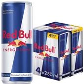 Red Bull Energiedrank Regular 4X25CL voorkant