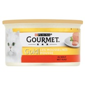 Gourmet Gold Kattenvoer Mousse Met Rundvlees voorkant