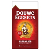 Douwe Egberts snelfilterkoffie fijne maling aroma rood voorkant