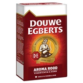 Douwe Egberts fijne maling filterkoffie aroma rood achterkant
