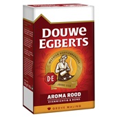 Douwe Egberts snelfilterkoffie aroma rood grove maling achterkant