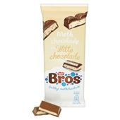 Bros Chocolade Tablet Melk Wit achterkant